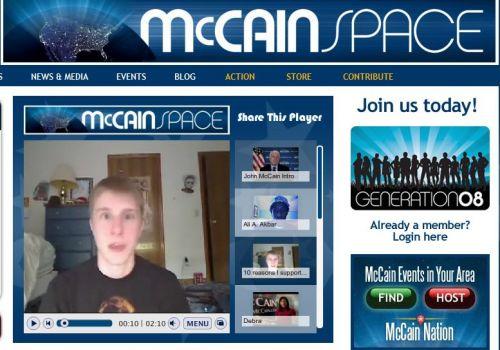 John McCain\'s Social Network